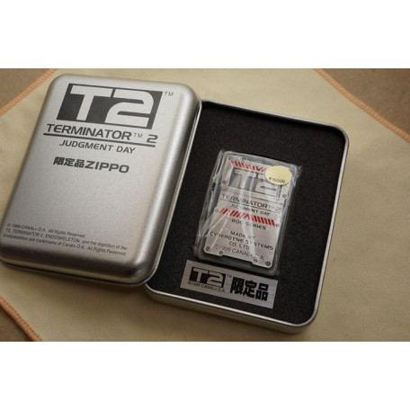 T2 Terminator 2 Limited product ZIPPO Serial No. Mark