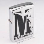 Marlboro Big Black M Buffalo skull Zippo Lighter 2004