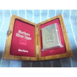 Marlboro very limited Sterling Silver wooden box of zippo good number