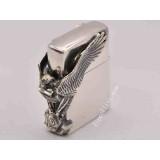 letter-edition silver plate Harley Davidson big eagle on side