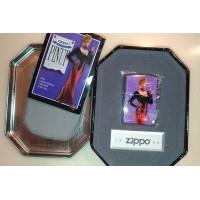 VINTAGE 1996 Zippo Pinup Girl Lighter w/ Collectible Tin Case